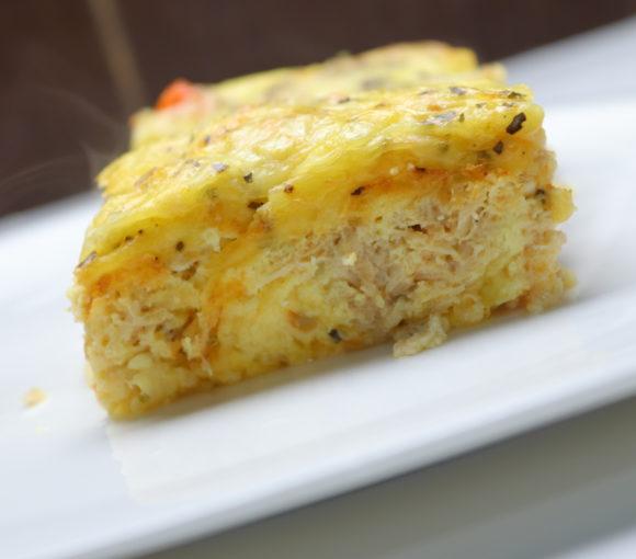omlete ar tunci - receptes