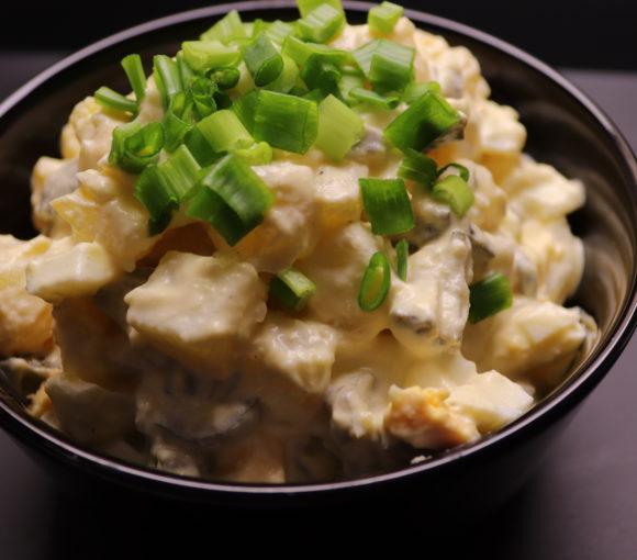 Vācu kartupeļu salāti. Recepte