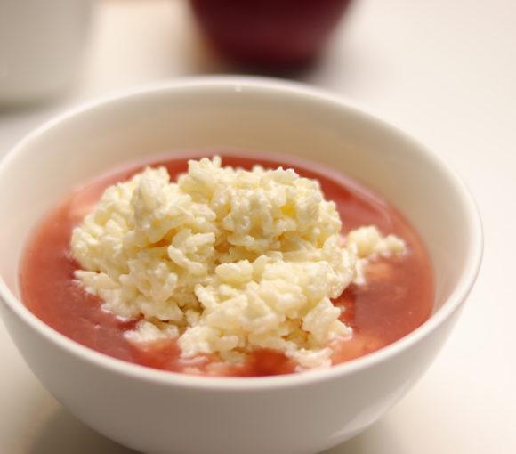 Rīsu saldais ar ķīseli. Recepte