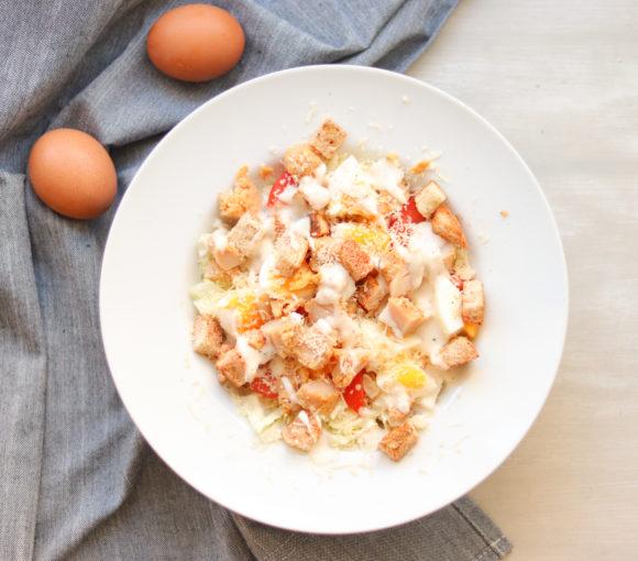 Cēzara salāti. Recepte