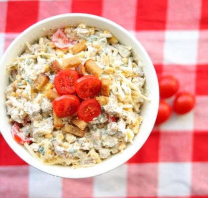 Ķiploku grauzdiņu salāti