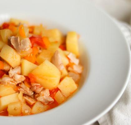 Kabaču sautējums ar tomātiem. Recepte